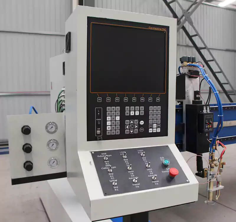 gantry CNC oxy-fuel gas flame cutting strip machine detail