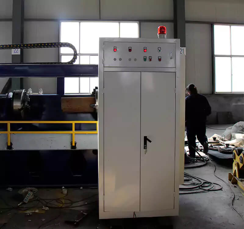 Continuous casting rolls double-head automatic surfacing welding machine detail